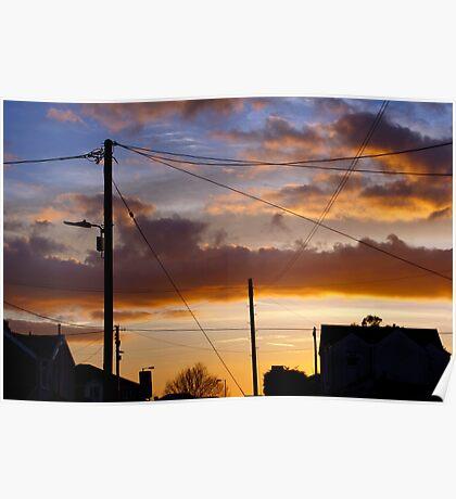Neighbourhood Sunset Poster