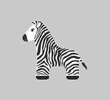 Cartoon Zebra by Marta Jonina