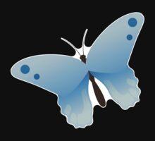 Cute cartoon butterfly Baby Tee