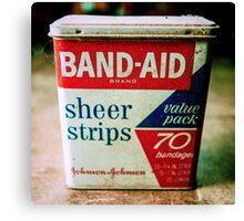 Band-Aid Box Canvas Print