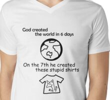 On the 7th day... Mens V-Neck T-Shirt