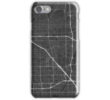 Anaheim, USA Map. (White on black) iPhone Case/Skin