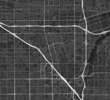 Anaheim, USA Map. (White on black) Sticker