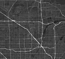Anaheim, USA Map. (White on black) by Graphical-Maps