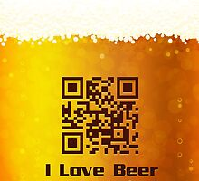 I Love Beer background by Marta Jonina