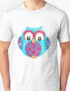 Olwyn the love heart owl Unisex T-Shirt