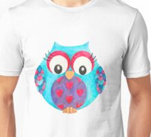 Olwyn the love heart owl Unisex T-Shirt