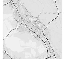 Fremont, USA Map. (Black on white) Photographic Print