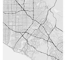 Irvine, USA Map. (Black on white) Photographic Print