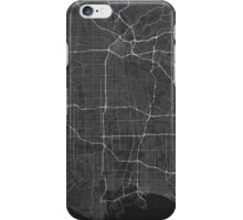 Los Angeles, USA Map. (White on black) iPhone Case/Skin