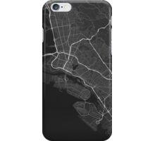 Oakland, USA Map. (White on black) iPhone Case/Skin