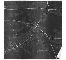 Riverside, USA Map. (White on black) Poster