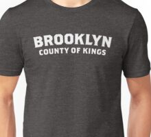 Brooklyn - County of Kings (white text) Unisex T-Shirt
