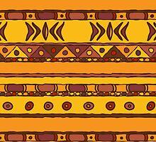 Geometric african ethnic background by Marta Jonina