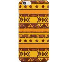 Geometric african ethnic background iPhone Case/Skin