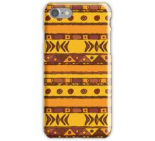 Geometric african ethnic background iPhone Case/Skin