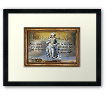 Bodily ascension of Mark Twain (see description) Framed Print