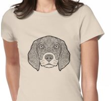Beagle-Detailed Dogs - Illustration Womens Fitted T-Shirt
