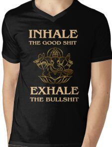 Inhale-Exhale - Yoga Fun Design Mens V-Neck T-Shirt