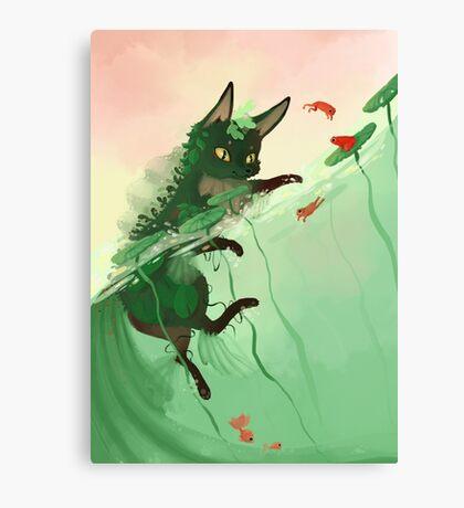 Water fox Canvas Print