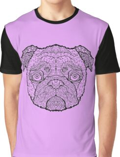 Pug - Detailed Dogs - Illustration Graphic T-Shirt