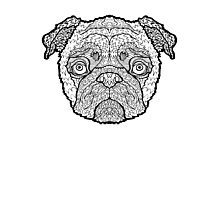 Pug - Detailed Dogs - Illustration Photographic Print