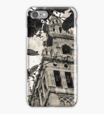 Seville - The Giralda in Sepia Tones  iPhone Case/Skin