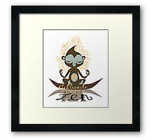 Cultivate inner Zen - Yoga Fun Design Framed Print