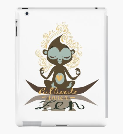 Cultivate inner Zen - Yoga Fun Design iPad Case/Skin