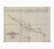 0332 Railroad Maps Preliminary sketch of the Northern Pacific Rail Road exploration and survey by I I Stevens Governor of Washington Kids Tee