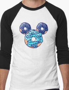 Pop Blue Donut Men's Baseball ¾ T-Shirt