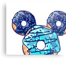 Pop Blue Donut Metal Print
