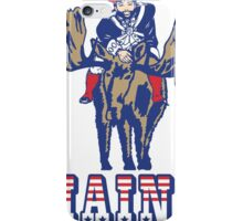 MAINE - Patriot on Mooseback - New England Patriots iPhone Case/Skin