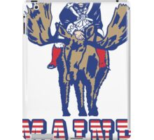 MAINE - Patriot on Mooseback - New England Patriots iPad Case/Skin