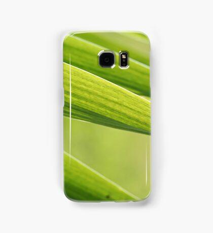 Abstract iris leaf background Samsung Galaxy Case/Skin