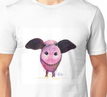 NOSEY PIG 'Pigs CAN Fly!' BY SHIRLEY MACARTHUR Unisex T-Shirt