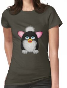 Fluffy Furbie Black/White Womens Fitted T-Shirt