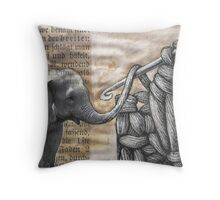 how to hook up with an elephant  Throw Pillow