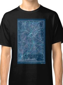 0086 Railroad Maps Map of Inverted Classic T-Shirt