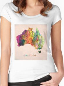 Australia Women's Fitted Scoop T-Shirt