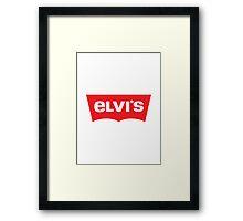 ELVIS - Levis Style Logo Framed Print
