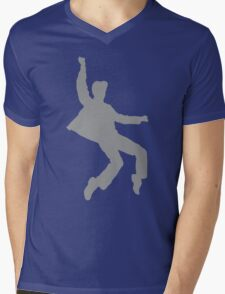Grey and Yellow Elvises Mens V-Neck T-Shirt