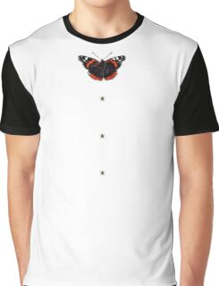 """MYSTICATRIX """"Red Amiral bow with Bee buttons"""" Graphic T-Shirt"""