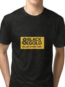 Black and Gold brand T shirt and Tank Top Tri-blend T-Shirt