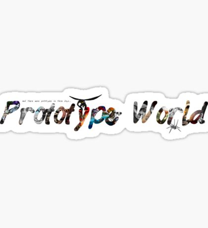 Prototype World Graphic Series Title Sticker
