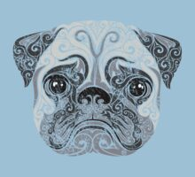 Swirly Pug One Piece - Short Sleeve