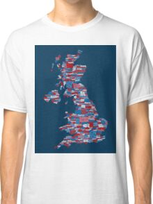 Great Britain UK City Text Map Classic T-Shirt