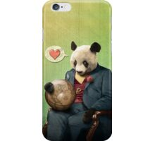 Wise Panda: Love Makes the World Go Around! iPhone Case/Skin