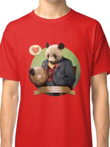 Wise Panda: Love Makes the World Go Around! Classic T-Shirt