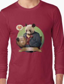 Wise Panda: Love Makes the World Go Around! Long Sleeve T-Shirt